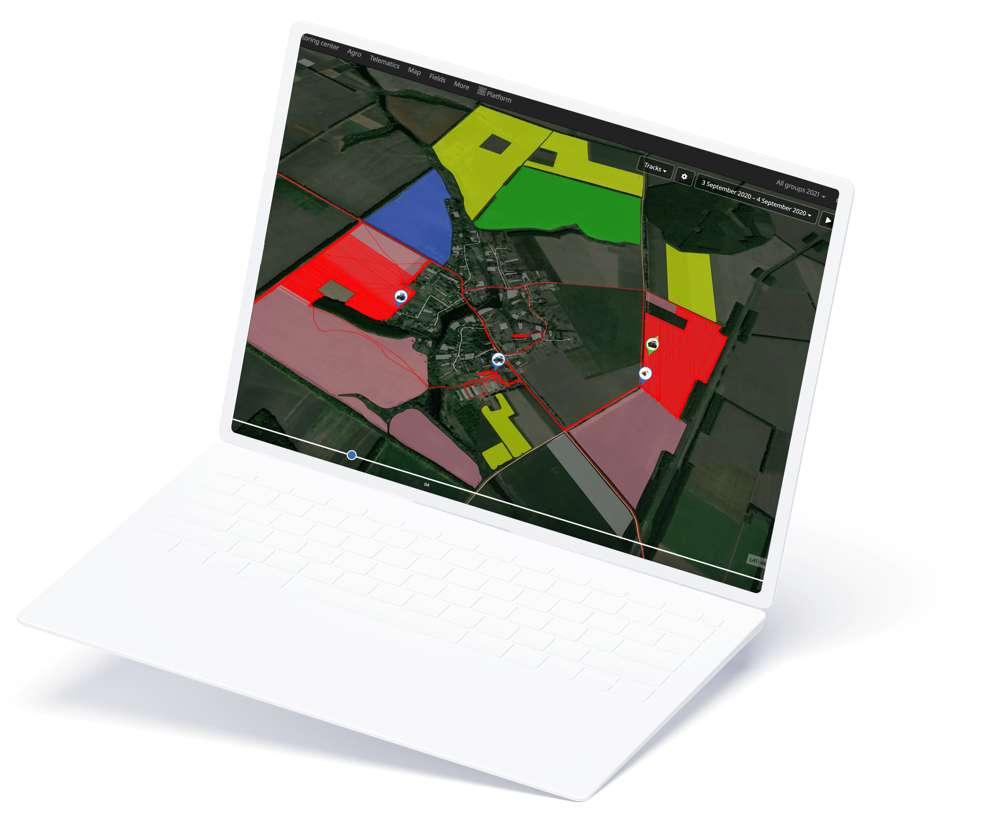 Cropwise operations available on computer
